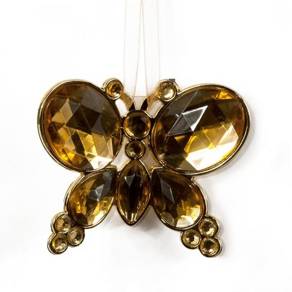 Honey Hanging Jewel Bead Butterfly