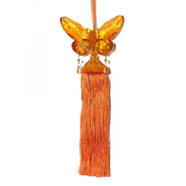 Orange Butterfly with Tassel
