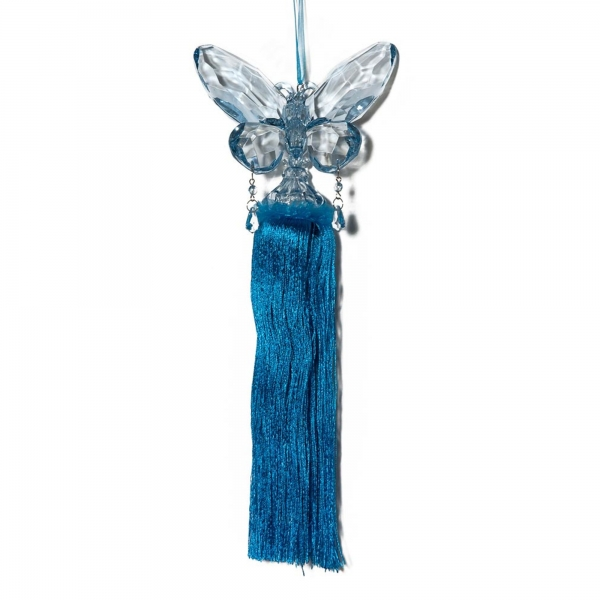 Water Blue Butterfly with Tassel