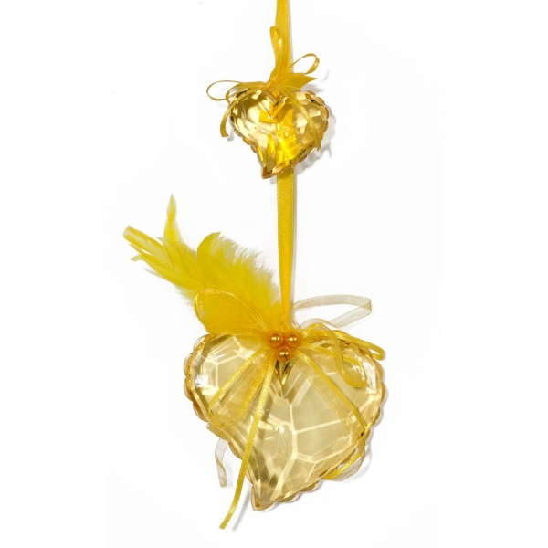 Honey Heart with Feathers