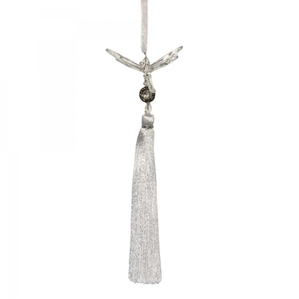 Clear/White Dragonfly with Tassel