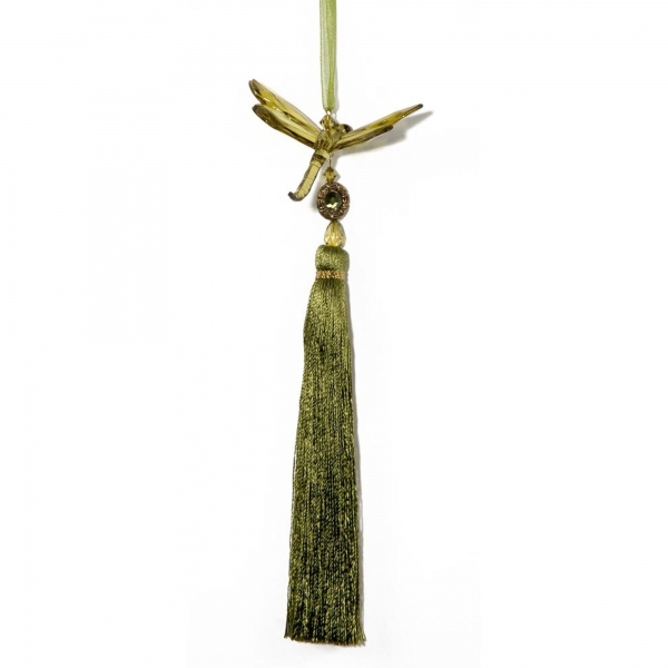 Olive Dragonfly with Tassel