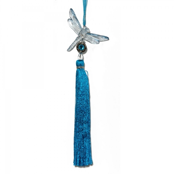 Water Blue Dragonfly with Tassel