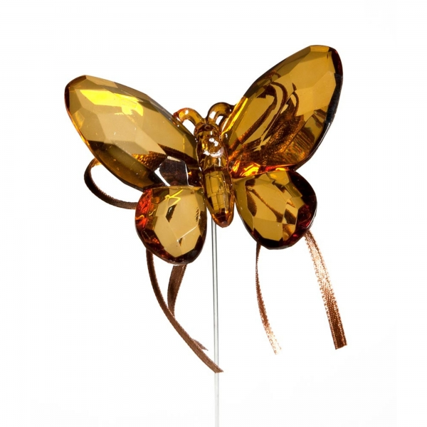 Copper Butterfly with Ribbon