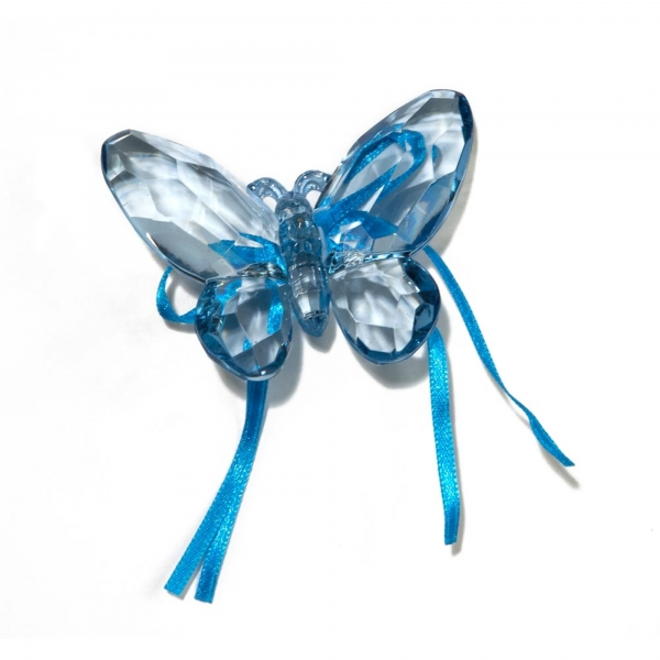 Royal Blue Butterfly with Ribbon