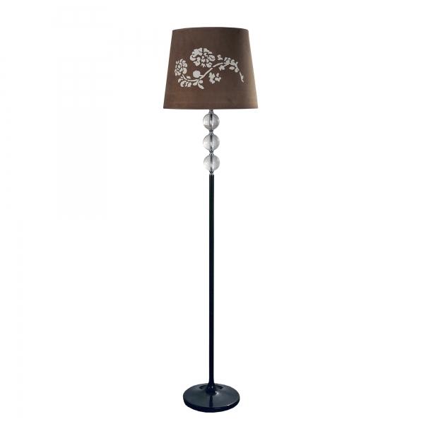 Contemporary Floor Lamp - Brown