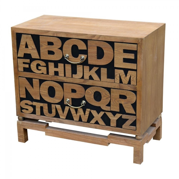 Alphabet Chest of Drawers - Brown