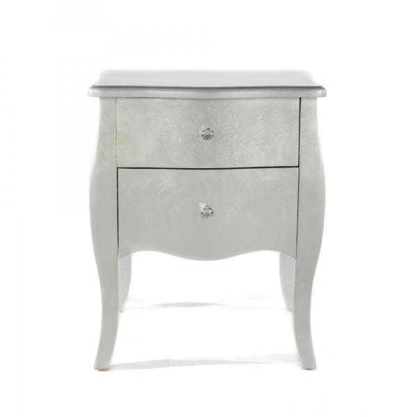 The Alchemist Bedside Table - Silver Gilt Leaf