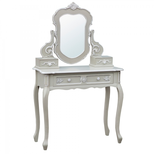 Grey Dressing Table with Mirror