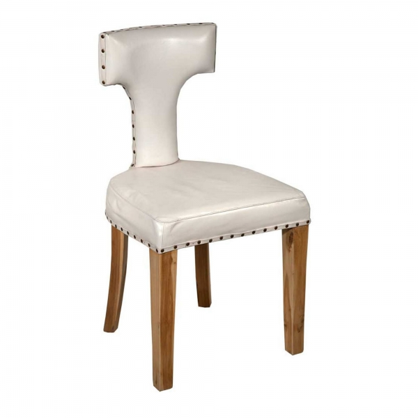 Leather Dining Chair - White