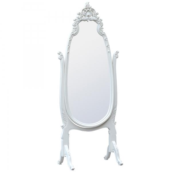 Cheval Full Length Mirror - White