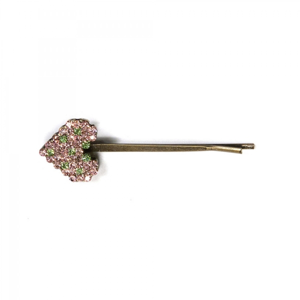 Small Heart Hair Clip - Pink