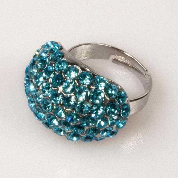 Oval Shaped Ring-Aqua Marine