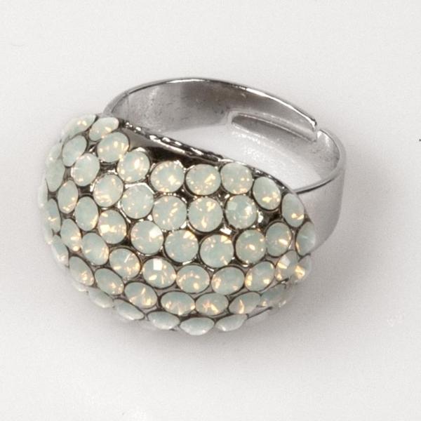 Oval Shape Ring - White Opal