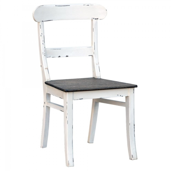 Distressed Dining Chair - White