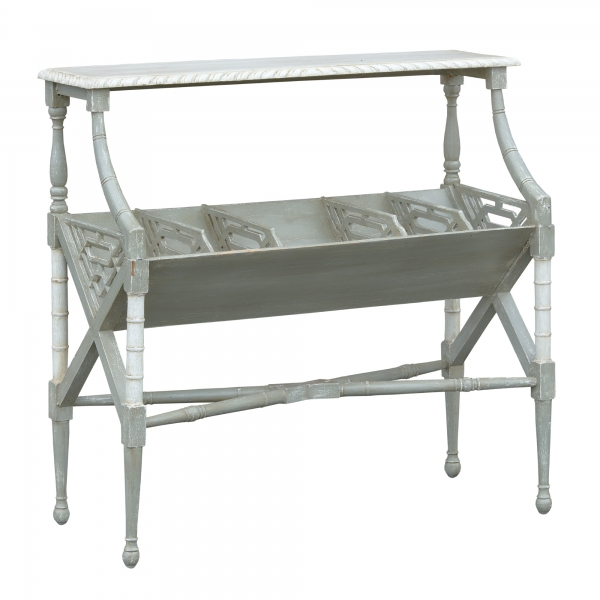 Isabella Magazine Rack - Grey and White