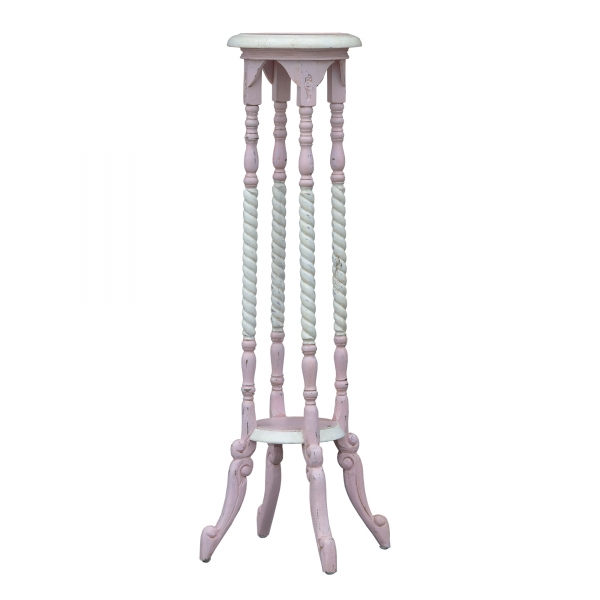 Isabella Plinth - Pink and White