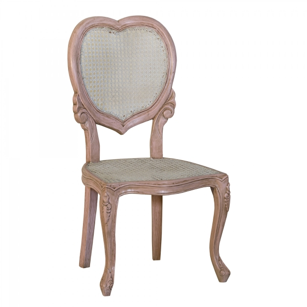 Isabella Heart Bedroom Chair - Pink and White