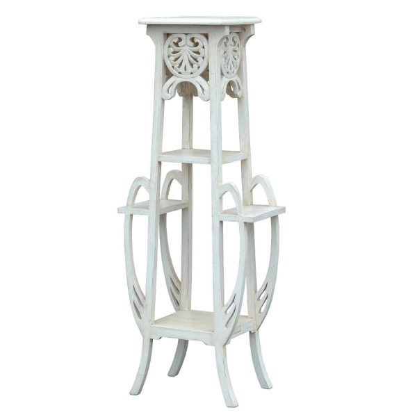 Isabella Plant Stand - White