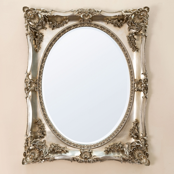 Beth Champagne Overmantle Mirror
