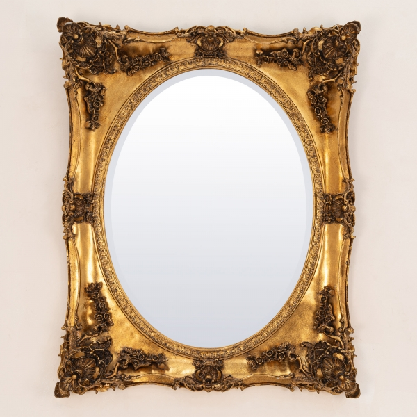 Beth Gold Overmantle Mirror