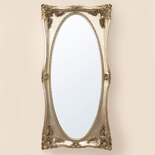 Beth Champagne Floor Mirror