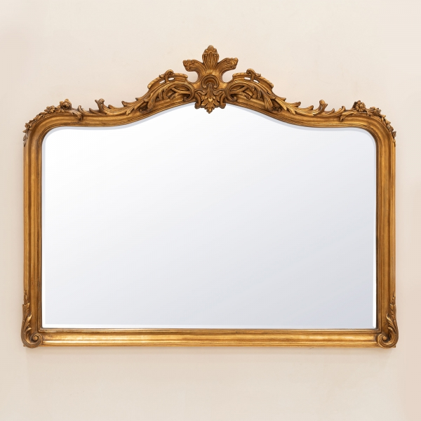 Patrica Gold Overmantle Mirror