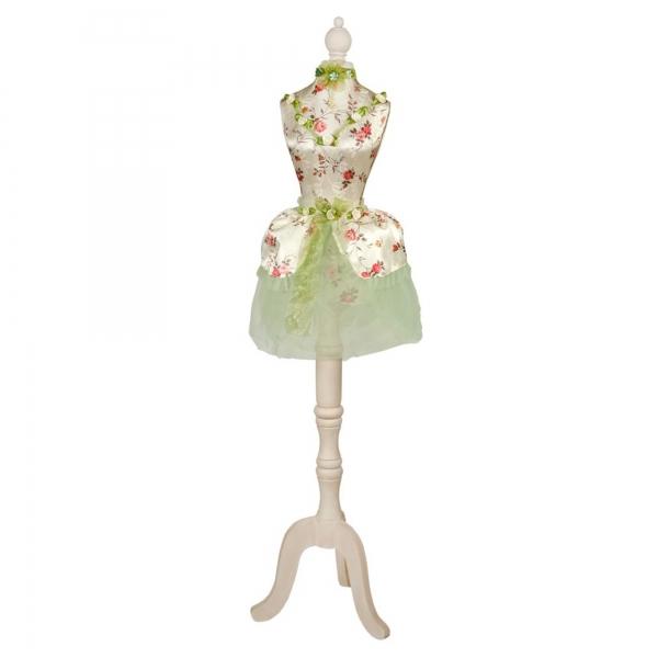 Green Floral ''Ballerina'' Dressed Decorative Mannequin