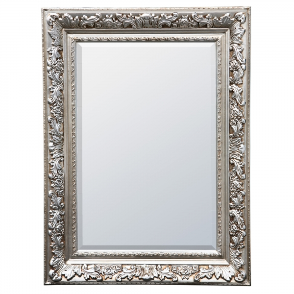 Antique Style Silver Bevelled Decorative Wall Bedroom Hall Mirror