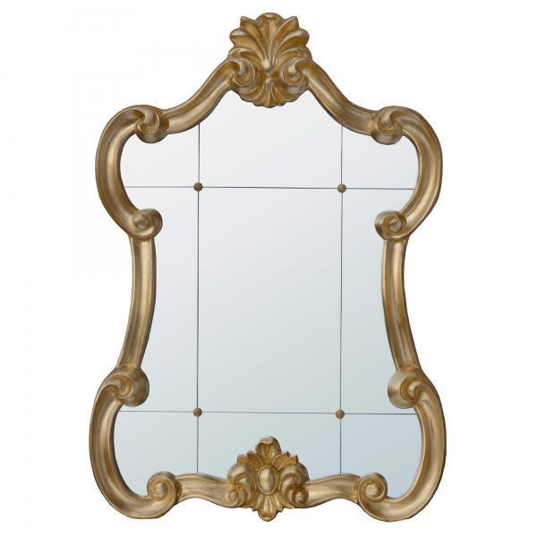 Mireille Gold Rococo Style Architectural Window Decorative Wall Mirror