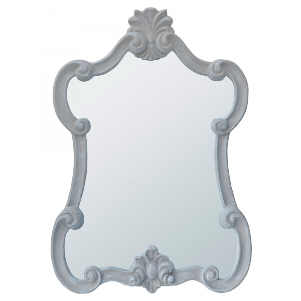 Mireille Antique Taupe Rococo Style Decorative Wall Bedroom Hall Mirror