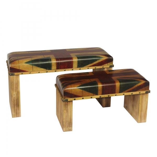 Union Jack Stool Set