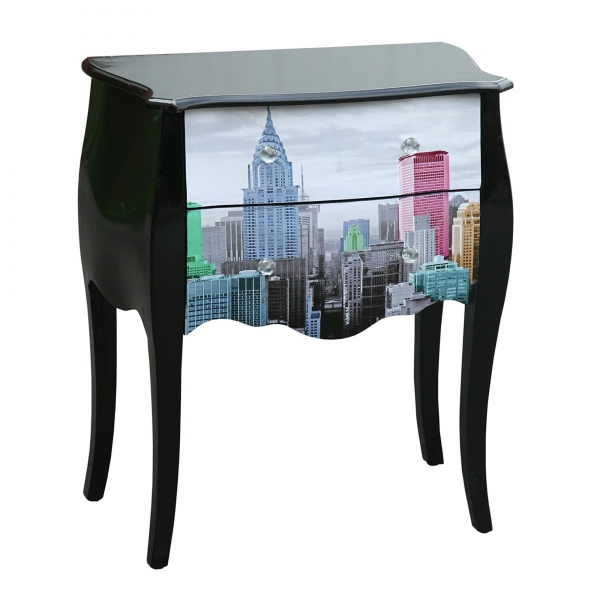 Urban Chic Bedside Table - Black