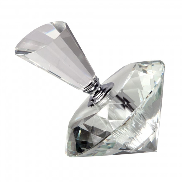 'Spinning Top'' Crystal Perfume Bottle size - 4