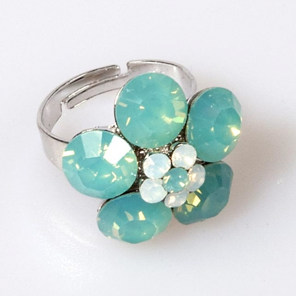 Pacific Opal Mini Flower Ring