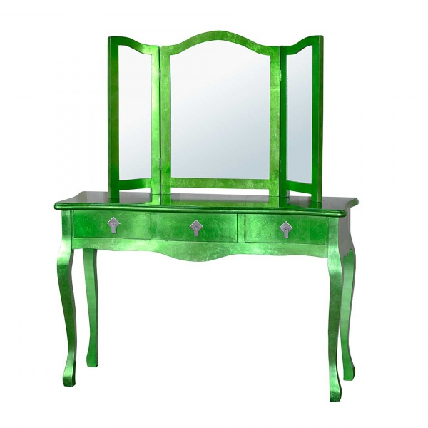 High Gloss Dressing Table - Green