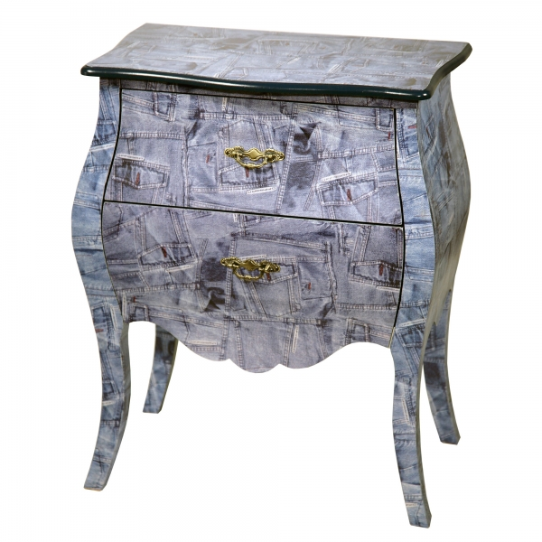 Grand Safari Bedside Table - Blue
