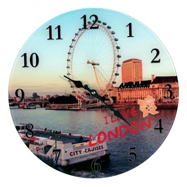 Urban Chic Glass Clock