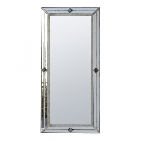 Vintage Venezia Full Length Mirror - Antique Silver