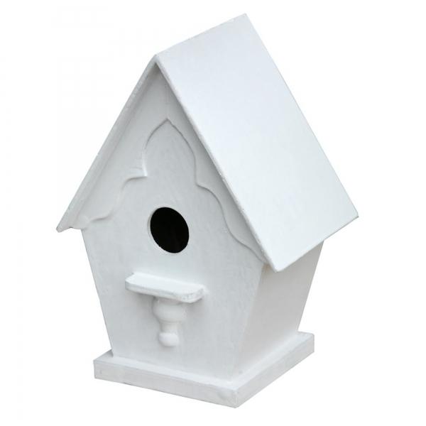 Bird Wooden Nestbox - White