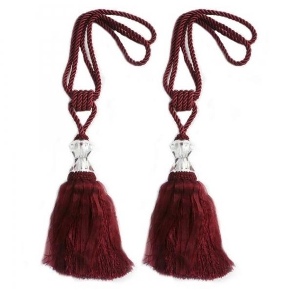 Wine Tassel with Crystal - pair