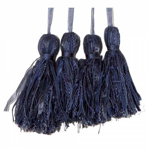 Blue Key Tassel  - set of 4 pcs