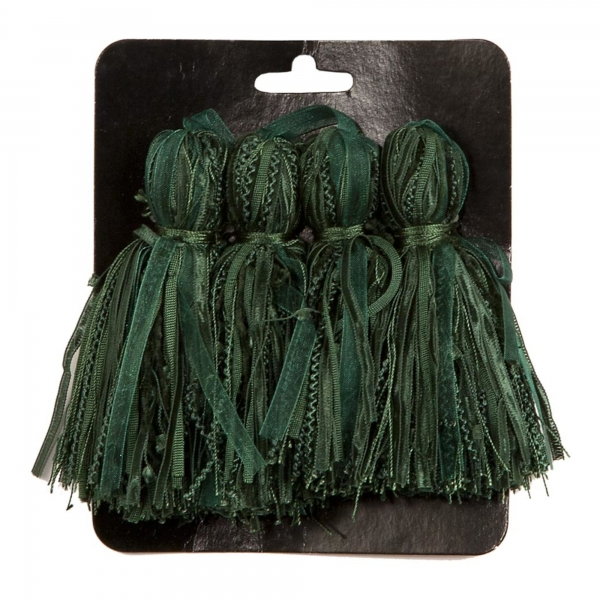 Green Tassel  - set of 4 pcs