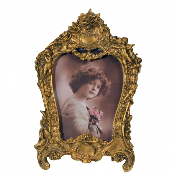 Gold Gilt Leaf Photo Frame