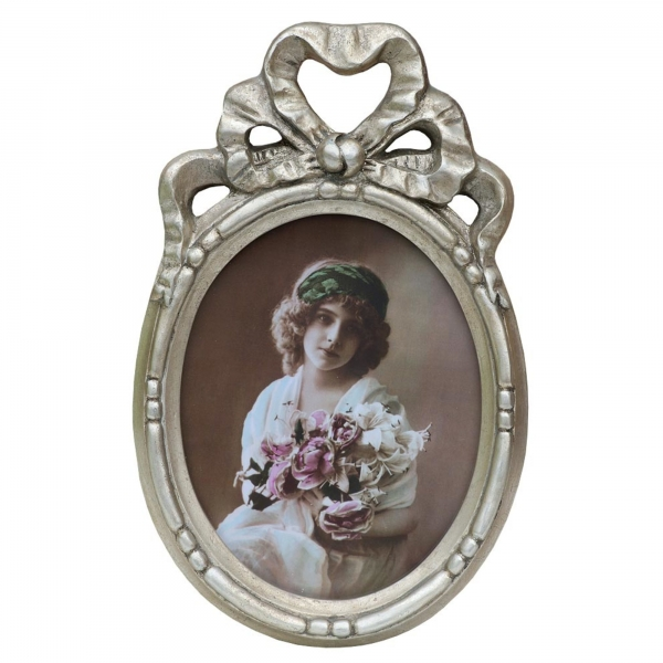 Silver Gilt Leaf Photo Frame Bows and Ribbons