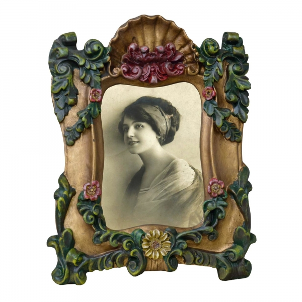 Gold Gilt Leaf  Gilt Leaf Portrait Photo Frame