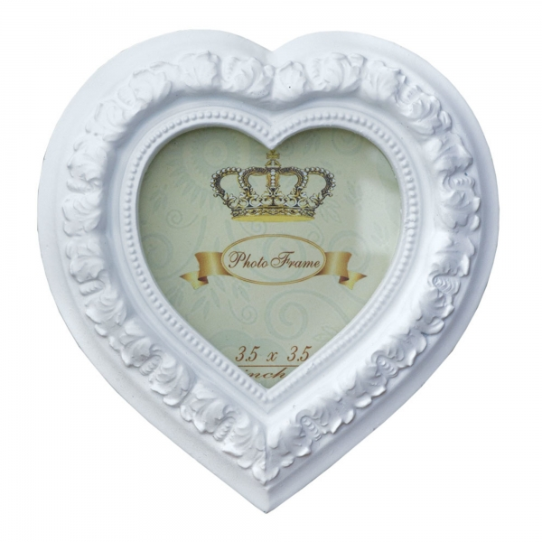 Heart Frame White 3 x 3