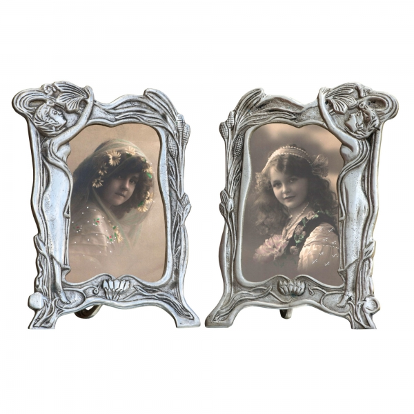 Silver Metal Picture Frame - set of 2