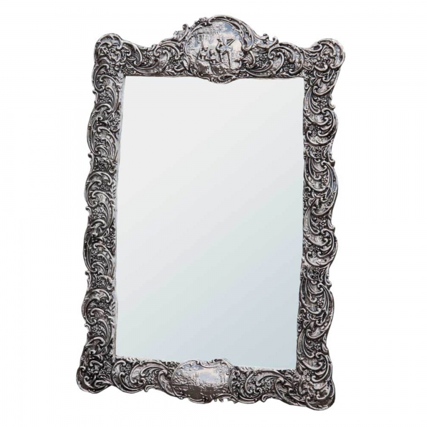 Champagne Silver Gilt Renaissance Style Decorative Table or Wall Mirror