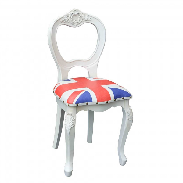 Union Jack Dining Chair - White